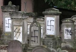 defacement of a  cemetery in .