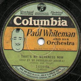 1928 Columbia Records label with caricature of Paul Whiteman