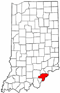 Image:Map of Indiana highlighting Clark County.png