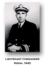 The young Lt Commander Richard Nixon of the US Navy 1945