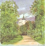 Balmoral Castle, painted by  in 1854 during its construction