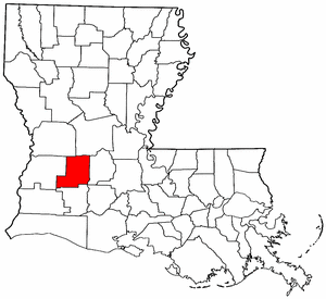 Image:Map of Louisiana highlighting Allen Parish.png