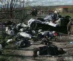 Kosovo Albanian refugees were hit by NATO by mistake