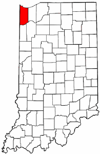 Image:Map of Indiana highlighting Lake County.png
