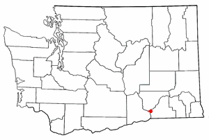 Location of Burbank, Washington