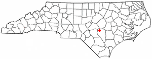 Location of Spiveys Corner, North Carolina