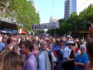 Anti war protest in Melbourne, Australia, 2003