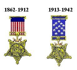 Early Navy versions of the Medal of Honor