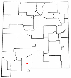 Location of Las Cruces, New Mexico