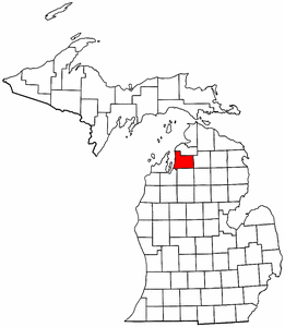 Image:Map of Michigan highlighting Antrim County.png