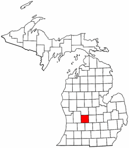 Image:Map of Michigan highlighting Ionia County.png