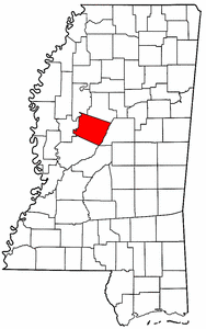 Image:Map of Mississippi highlighting Holmes County.png