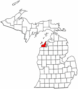 Image:Map of Michigan highlighting Leelanau County.png