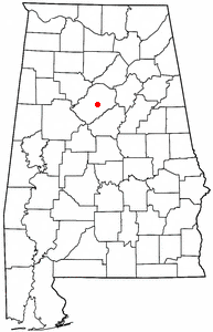 Location of Birmingham, Alabama