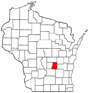 Image:Map of Wisconsin highlighting Green Lake County.png