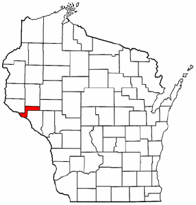 Image:Map of Wisconsin highlighting Pepin County.png
