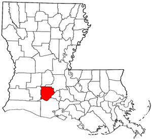 Image:Map of Louisiana highlighting Acadia Parish.png