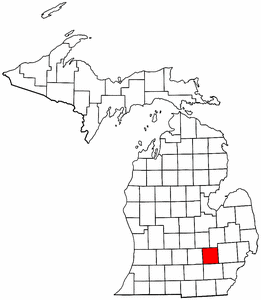 Image:Map of Michigan highlighting Livingston County.png