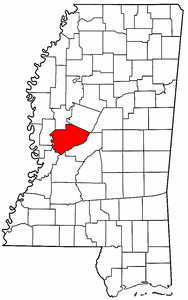 Image:Map of Mississippi highlighting Yazoo County.png