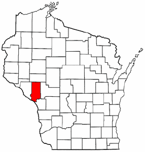 Image:Map of Wisconsin highlighting Trempealeau County.png