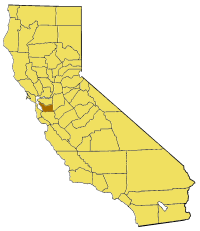 Image:California map showing Alameda County.png