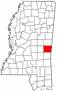 Image:Map of Mississippi highlighting Lauderdale County.png