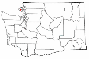 Location of Friday Harbor, Washington