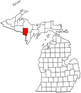 Image:Map of Michigan highlighting Dickinson County.png