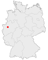 Map of Germany showing Gelsenkirchen