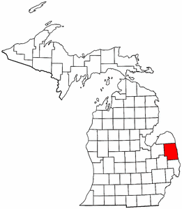 Image:Map of Michigan highlighting Sanilac County.png