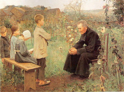 Catechism Lesson, by Jules-Alexis Meunier, 1890