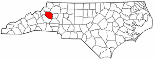 Image:Map of North Carolina highlighting Caldwell County.png