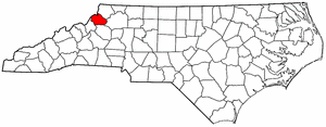 Image:Map of North Carolina highlighting Watauga County.png