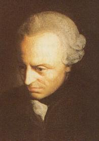 A painting of Immanuel Kant in his middle age