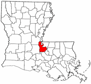 Image:Map of Louisiana highlighting Pointe Coupee Parish.png