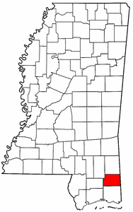 Image:Map of Mississippi highlighting George County.png