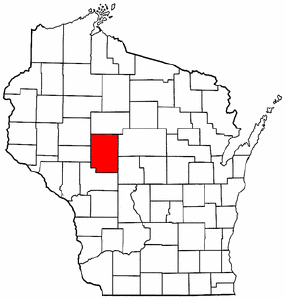 Image:Map of Wisconsin highlighting Clark County.png