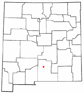 Location of Alamogordo, New Mexico