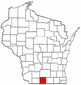 Image:Map of Wisconsin highlighting Green County.png