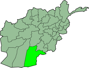 Map showing Kandahar province in Afghanistan