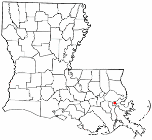 Location of New Orleans, Louisiana