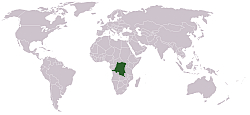 Location of the Democratic Republic of the Congo