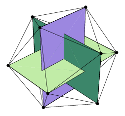 Golden rectangles in an icosahedron