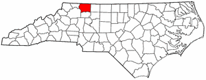 Image:Map of North Carolina highlighting Surry County.png