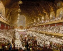The coronation banquet for George IV was held at Westminster Hall on  .