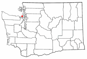 Location of Port Townsend, Washington
