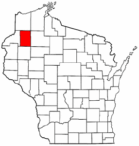 Image:Map of Wisconsin highlighting Washburn County.png