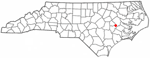 Location of Grifton, North Carolina