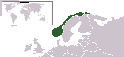 Location of Norway