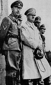 "Adolf Hitler with , chief of the  (charged with rounding up Jews, Gypsies and so-called ""enemies of the state"")"